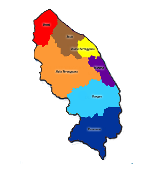 Peta Daerah Terengganu
