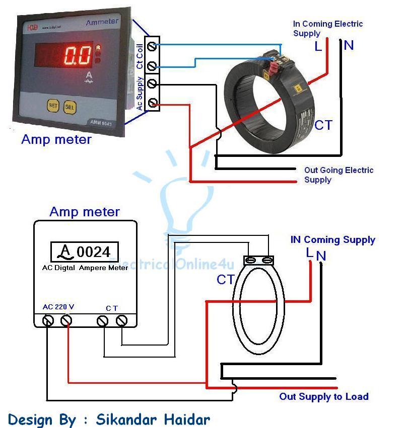 Dc amp meter hook up