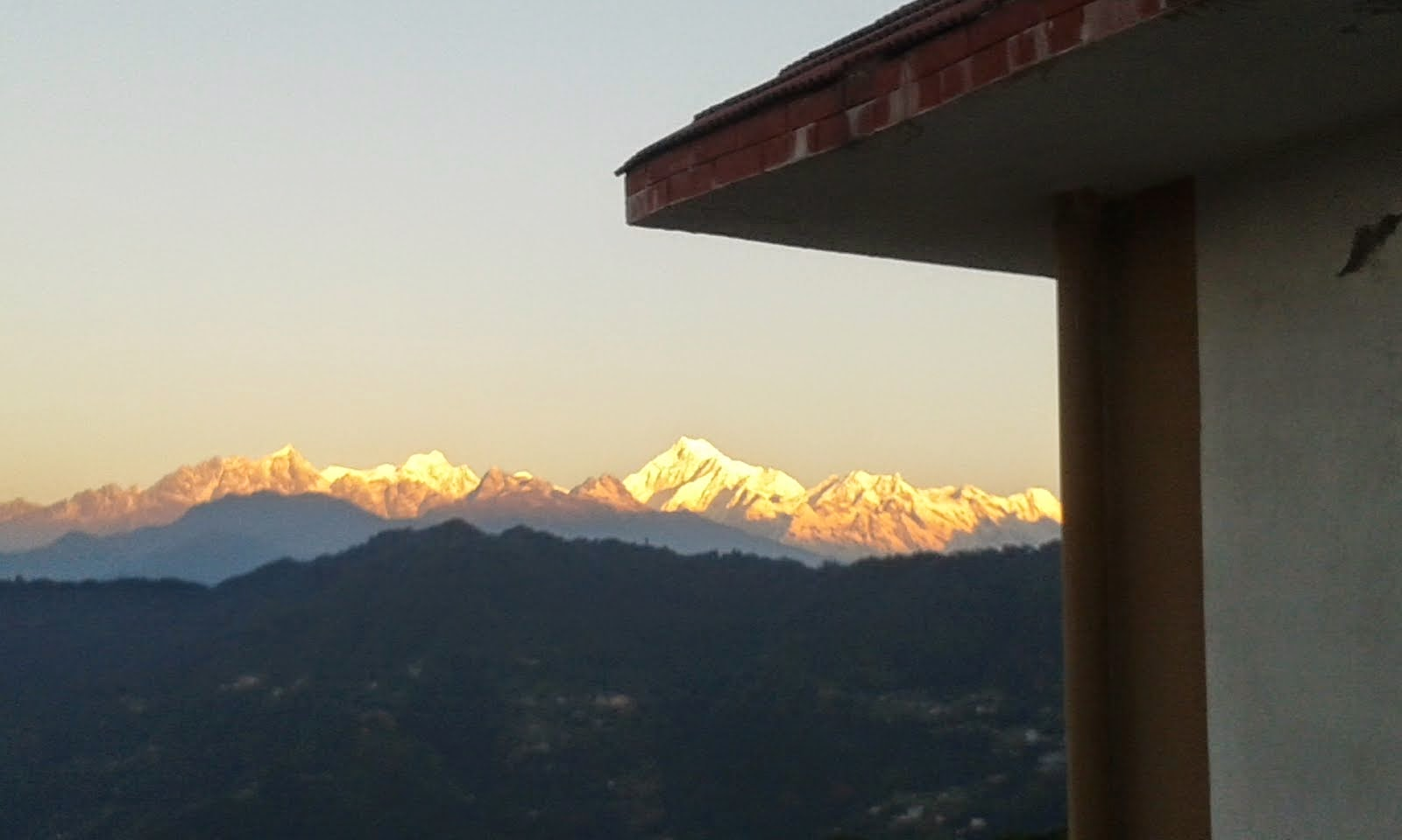 View of Kanchendzonga always inspires