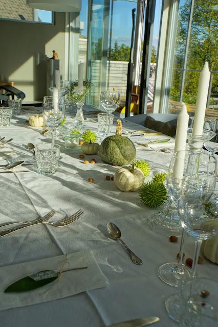 Gäste, Herbst, Kürbis, Tablesetting