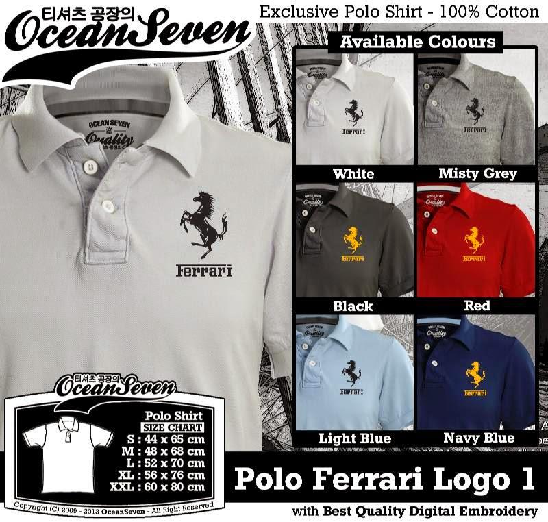 Kaos Polo Ferrari Logo 1