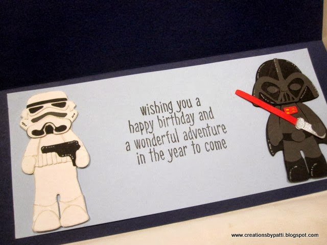 Creations by patti star wars birthday card monday october 7 2013 bookmarktalkfo Choice Image