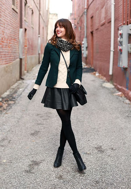 Chic And Leather look girly outfit