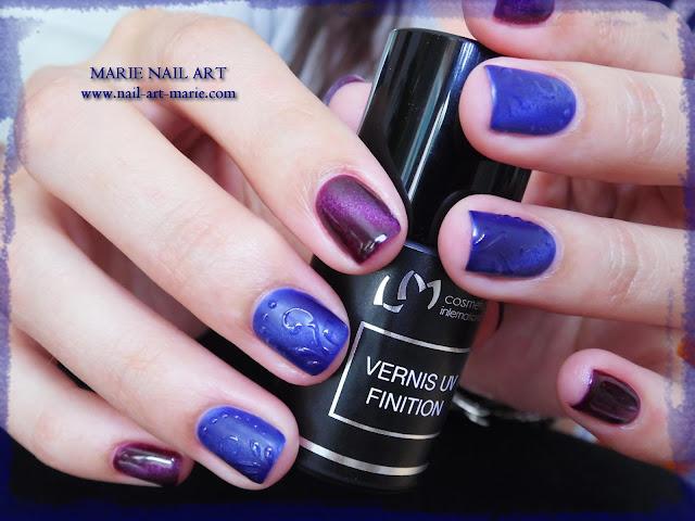 nail art avec semi-permanent effet oeil de chat9