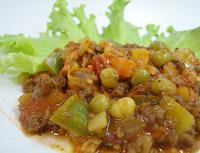 Carne de Soja com Legumes (vegana)