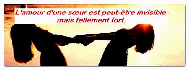Message d'amour a sa soeur