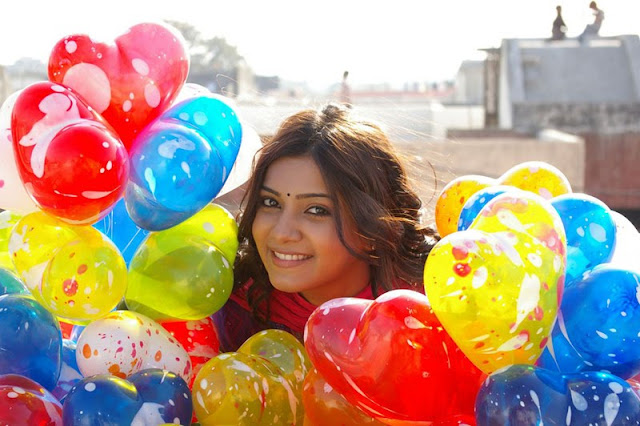 samantha with colorful balloons photo  gallery