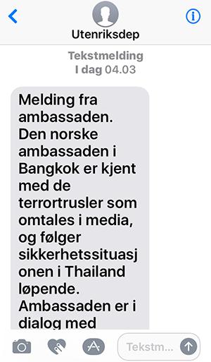 sms til thailand