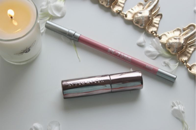 Urban Decay Revolution Lipstick and 24/7 Lip Liner in Native