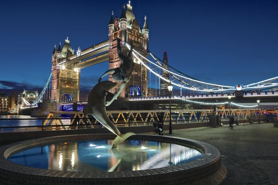 3. Tower Bridge & Dolphin by Christophe Pfeilstücker
