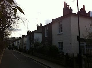 Looking south along Bridstow Place, London W11