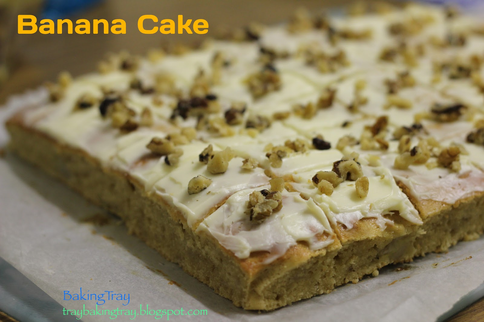 ... TRAY ~\_____/~: Work catering #9: Caramel slice & Banana Cake