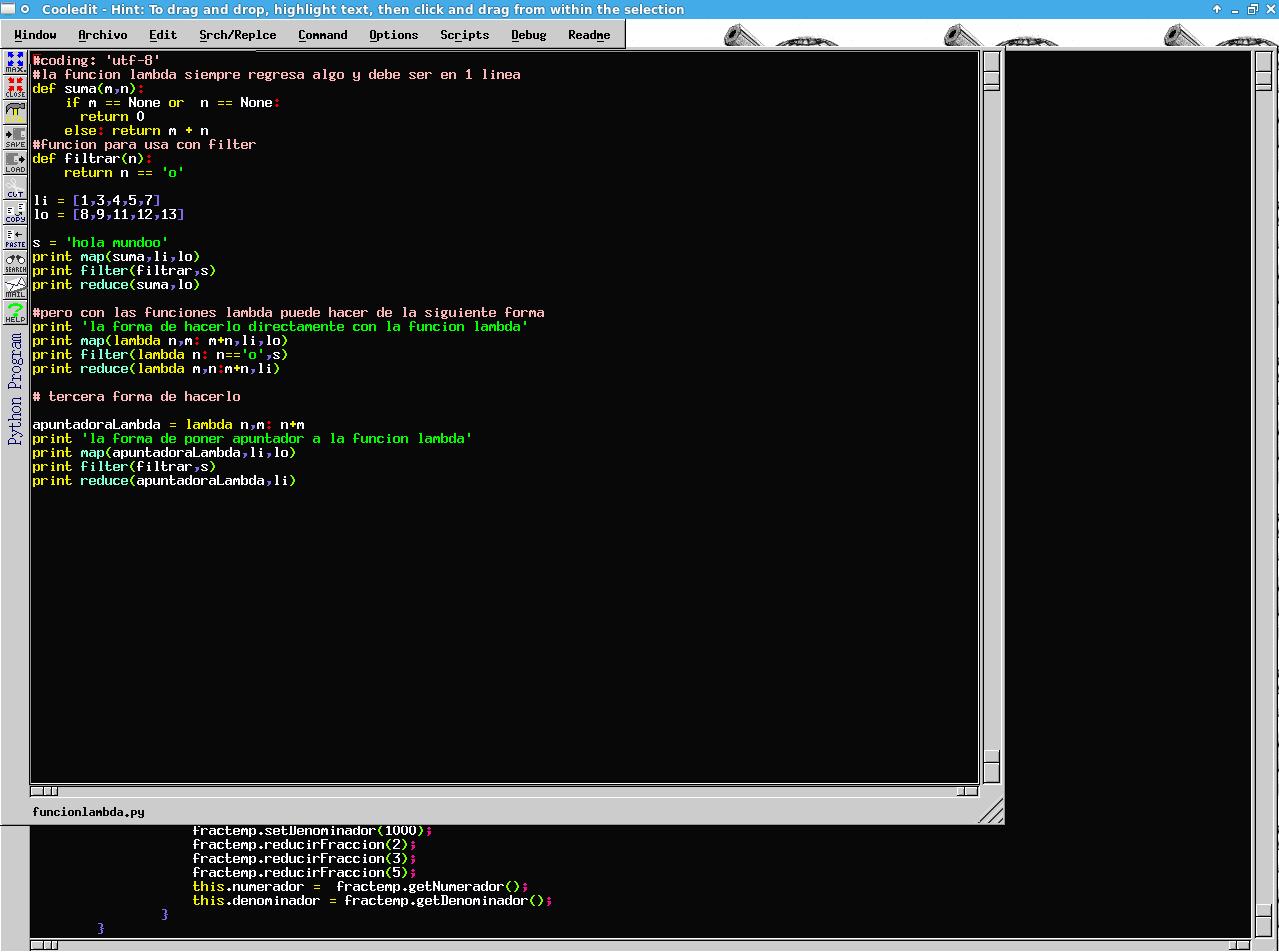 editor cooledit para programar linux