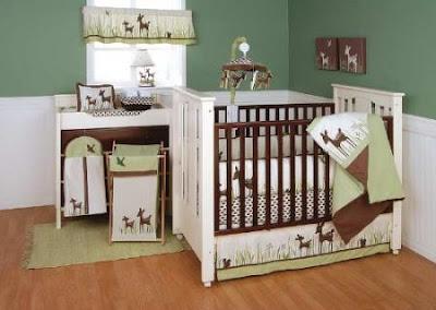 cuarto bebé verde chocolate