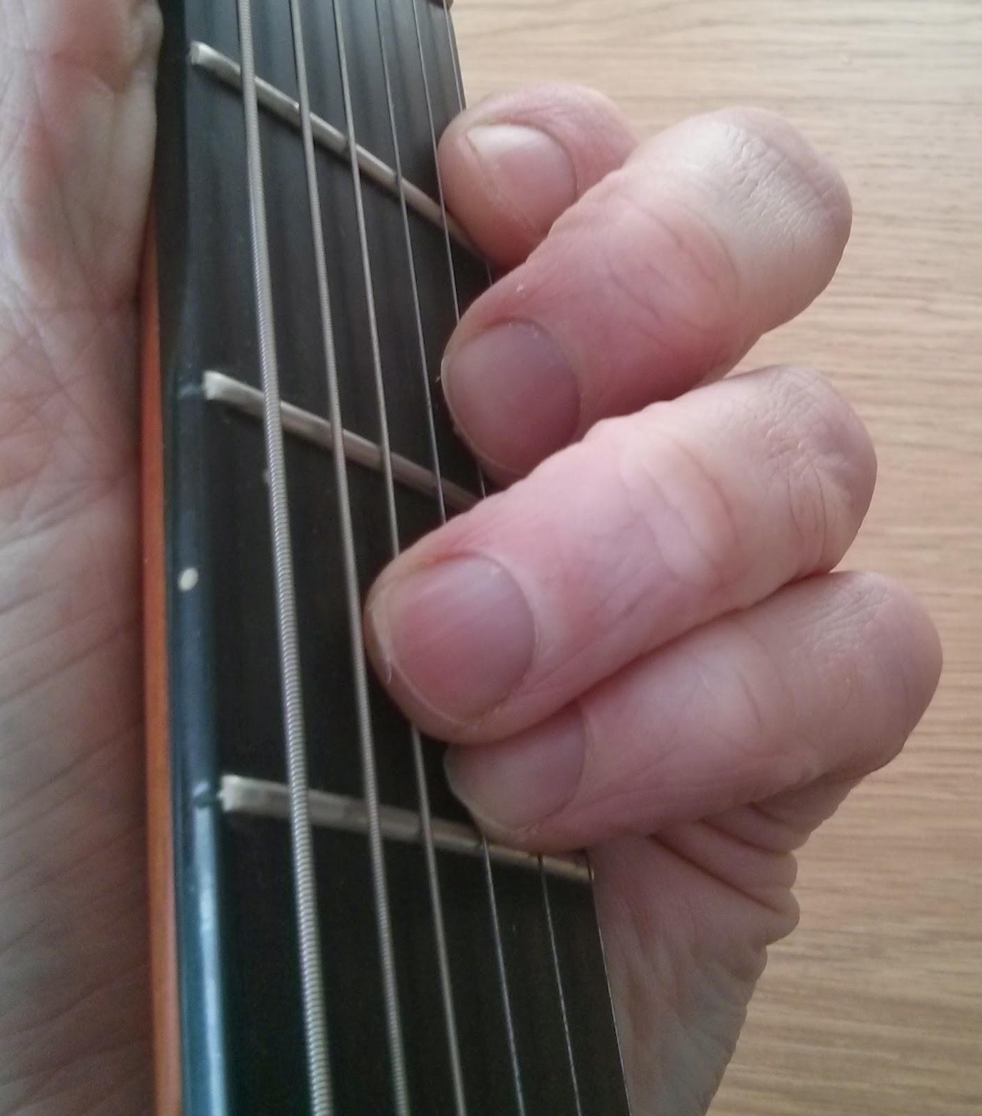 Bbm guitar chord