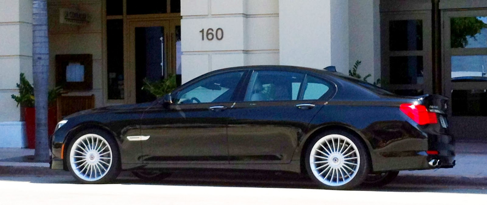 blue bmw alpina b7 exotic cars on the streets of miami