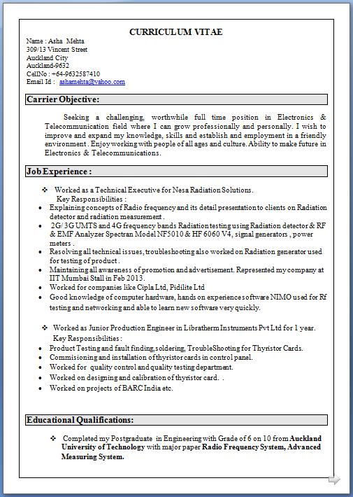 biodata format doc