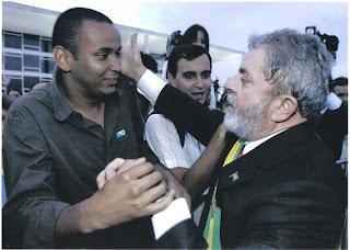 Marcelo na posse de Lula em seu segundo mandato (2006)