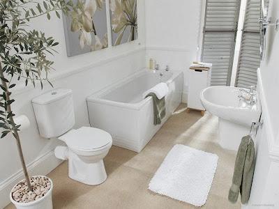 decoración baño pintura y madera