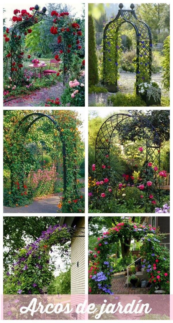 Sorteo arco de rosas para un jard n de ensue o guia de for Arcos para jardin