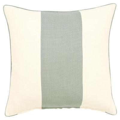 OKA Direct Interiors eau de nil linen cushion