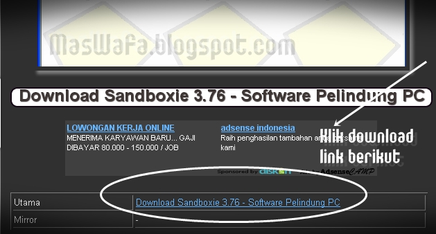 Cara Download di MasWafa Blog (Download Software, Cheat, Film, dsb) 2