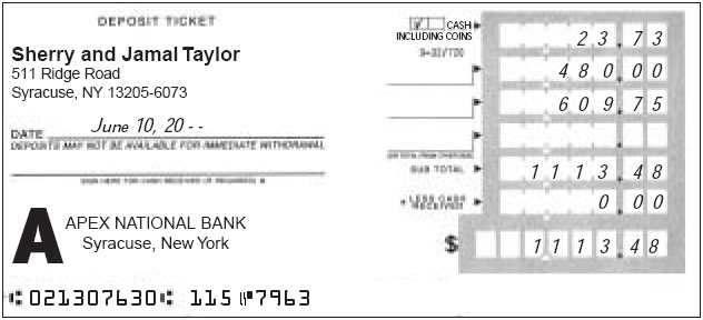 how to create a deposit slip
