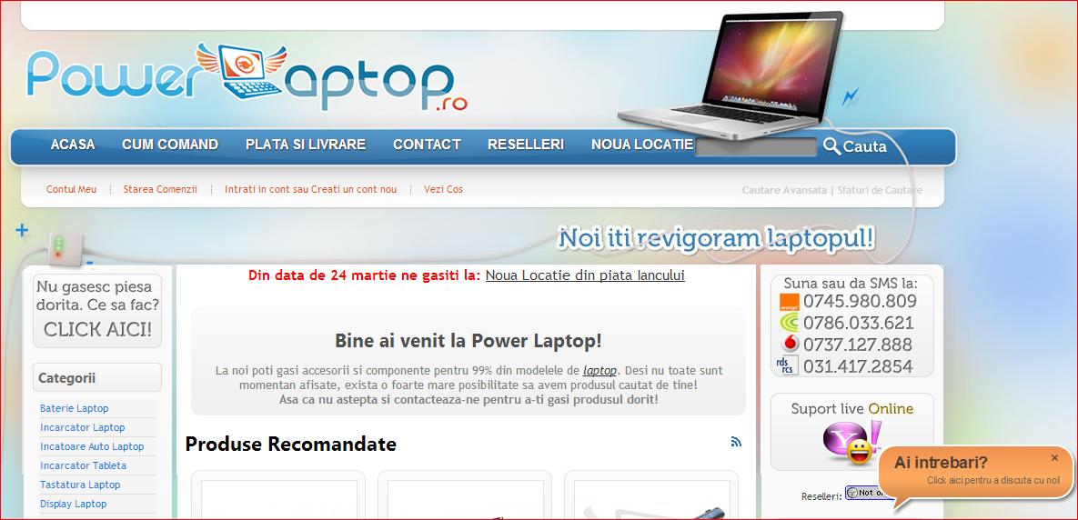 baterii laptop ieftine  doar de la PowerLaptop!