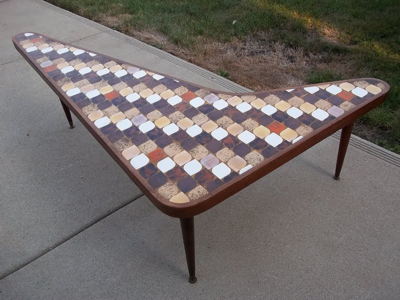 Hohenbury Original Danish Design Ceramic Tile Top Boomerang Coffee Table Sold Gatyo Retro