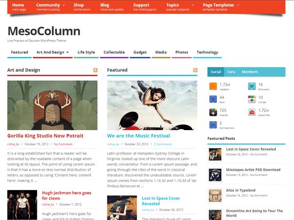 MesoColumn – Free Woocommerce Theme