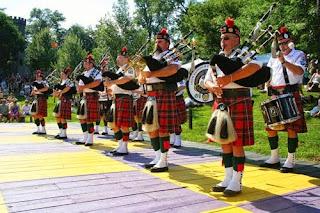 Pipe bands at Mount Hope Celtic Fling