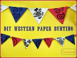 DIY Western Paper Bunting
