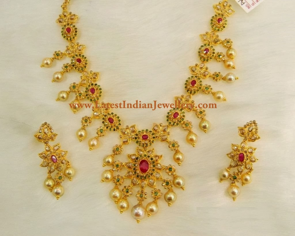 Uncut Diamond Necklace Sets With Price Uncut Diamond Necklace Designs
