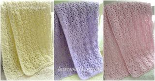 Lace Baby Blanket Free Pattern