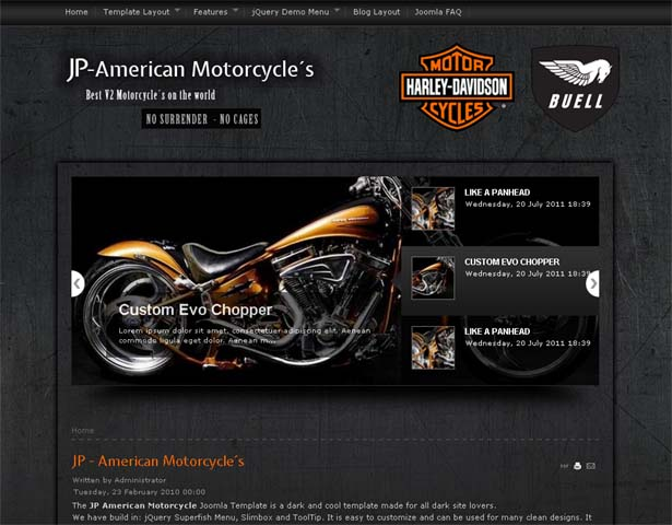 get honey free templates 4 u: jp american motorcycle template for, Powerpoint templates