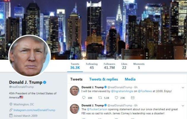 «Αποστάτης» του Twitter «κατέβασε» τον λογαριασμό του Ντόναλντ Τραμπ