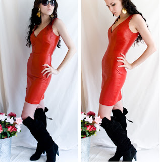 Red-Leather-Dress
