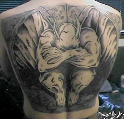 tattoo designs gargoyle tattoo meanings and photos. Black Bedroom Furniture Sets. Home Design Ideas