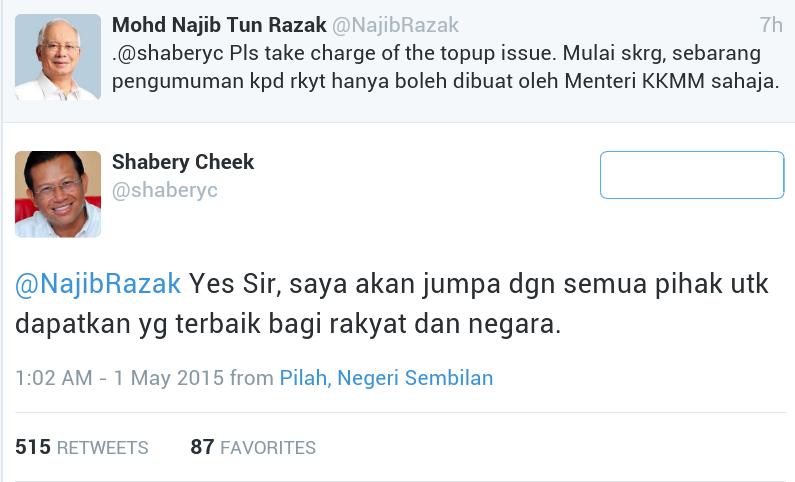 GST Isu top Up Hanya shaberyc Boleh Jawab Jelas NajibRazak