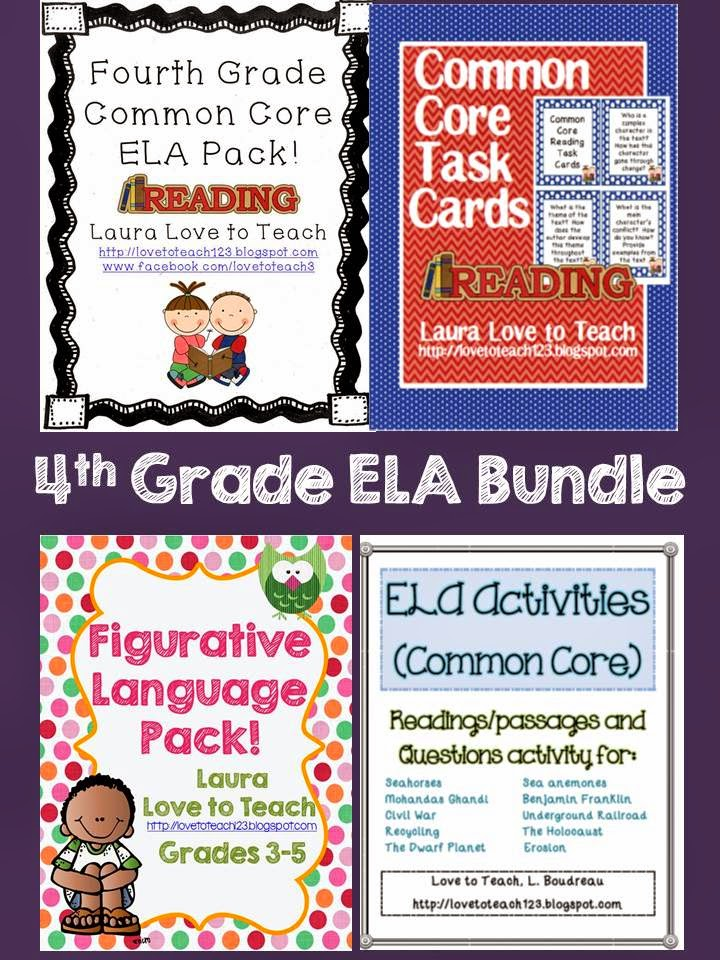 http://www.teacherspayteachers.com/Product/4th-Grade-ELA-Bundle-1138538