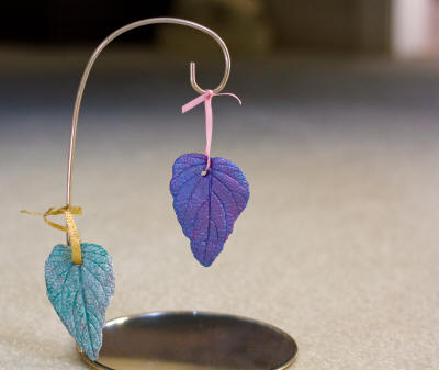 Sand cast leaf ornaments 2
