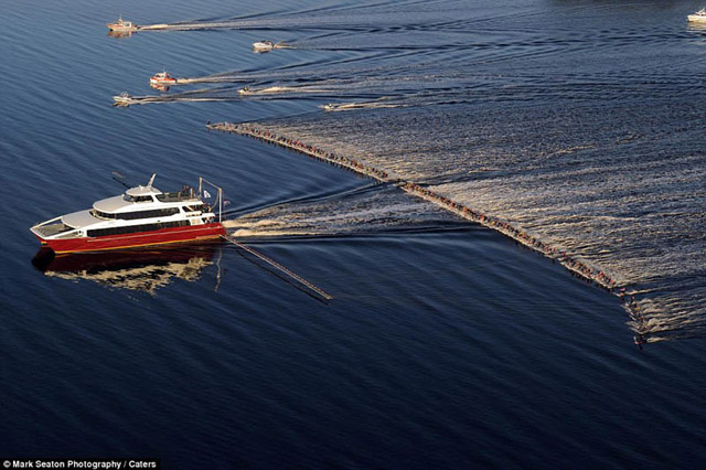 Most Water skiers Ever Pulled Behind A Single Boat