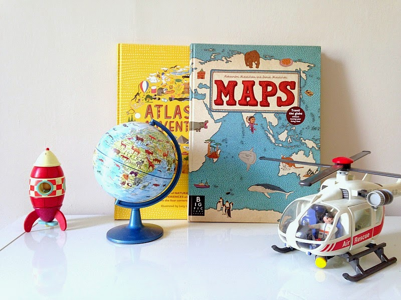 Kids world map books