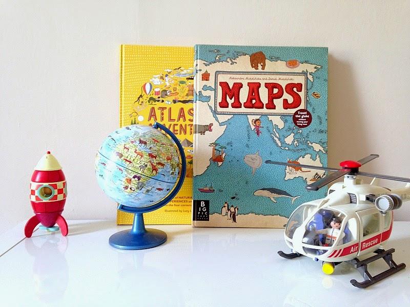 Kids world map books