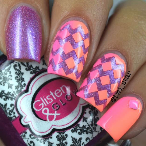 Neon Chevron Gradient with China Glaze Bottoms Up and Flip Flop Fantasy