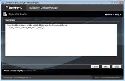 Cara Install Tema BlackBerry .alx Melalui PC