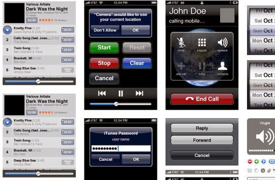 iPhone UI Vector Elements