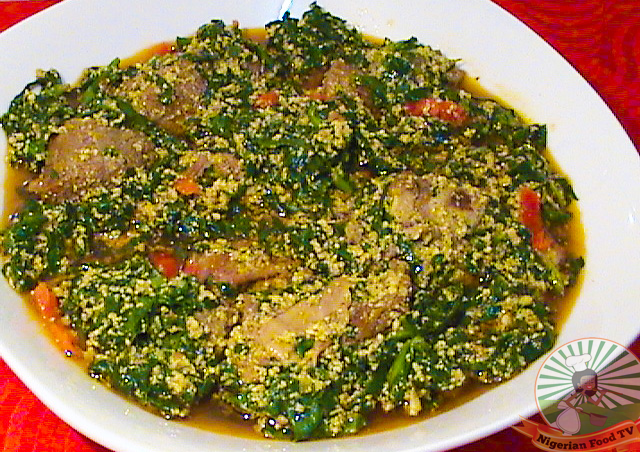 Nigerian Egusi Soup With Vegetables Melon Seed