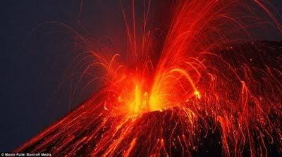 lahar panas, gunung krakatau, gunung meletus, larva gunung berapi, gunung berapi, vulcano