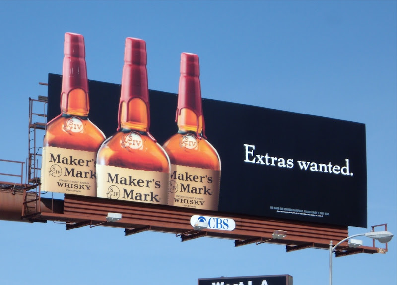 Extras Wanted Maker's Mark billboard